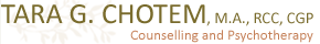 West Vancouver Counselling and Group Psychotherapy with Tara Chotem Logo